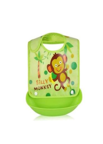 Green color Others . Foldable Waterproof Baby Bib With Detachable Food Catcher -