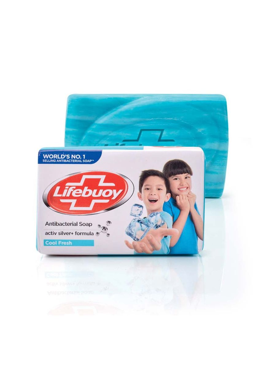 Light Blue color Body Bars . Lifebuoy Anti-Bacterial Soap Cool -