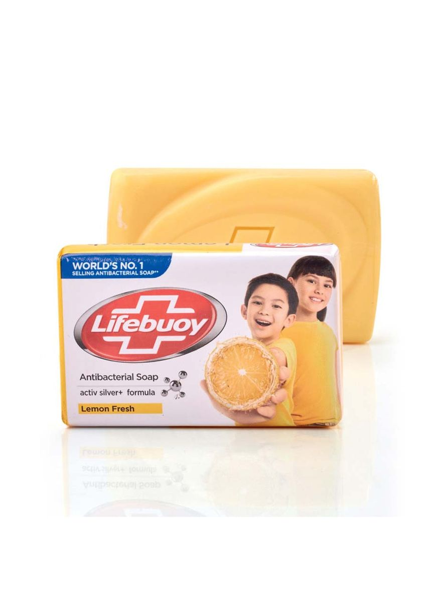 Yellow color Body Bars . Lifebuoy Anti-Bacterial Soap Lemon -