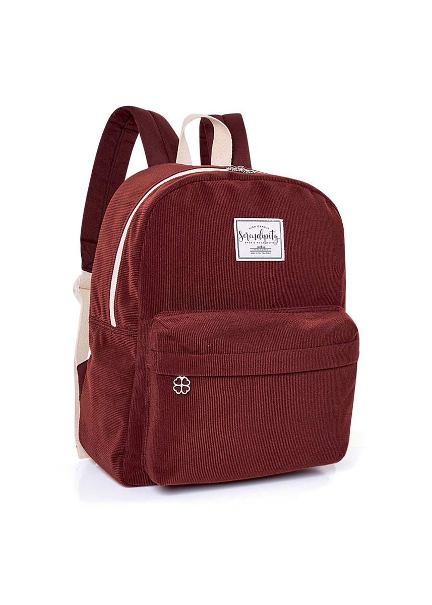 Brown color Bags . Serendipity Rosette Backpack -