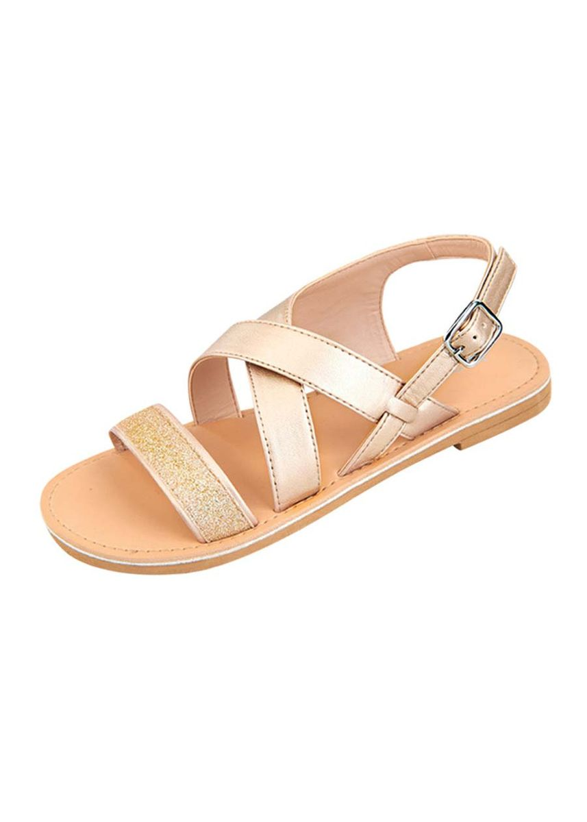 Gold color Footwear . Sneasel Kid's Sandals for Girls -