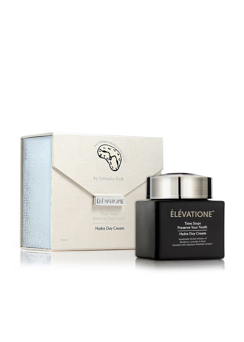 Black color Face . Elevatione Hydra Day Cream - Preserve Your Youth Collection -