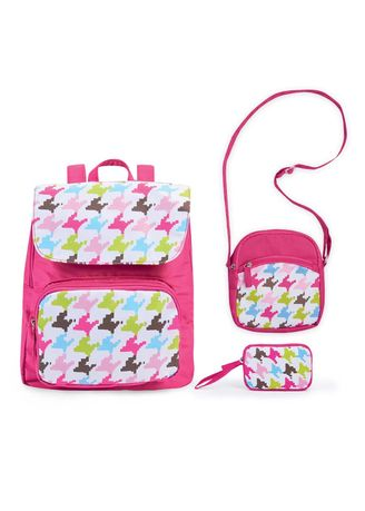 Pink color Bags . Madleen 3-In-1 Bag -