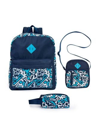 Navy color Bags . Sison 3-in-1 Girl's Bag -