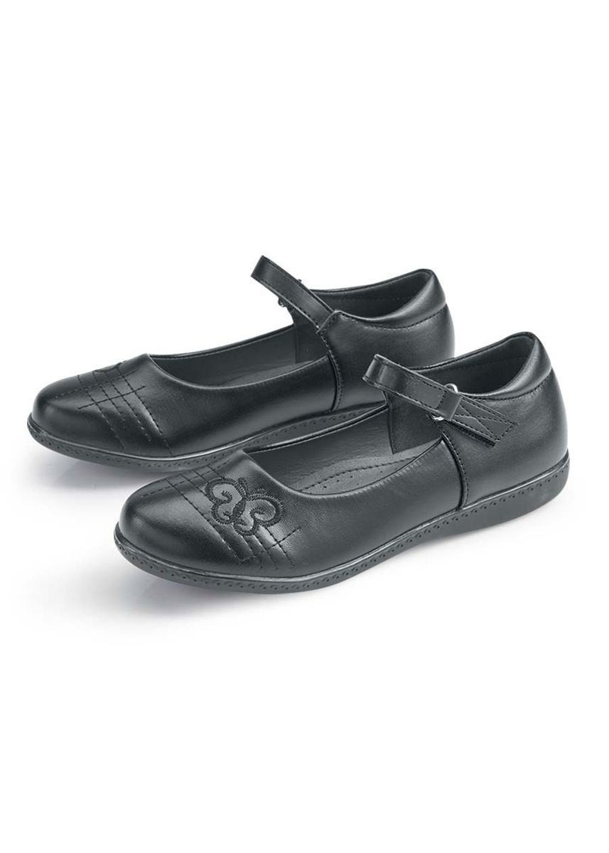 Black color Footwear . Pepper Kid's Shoes for Girls -