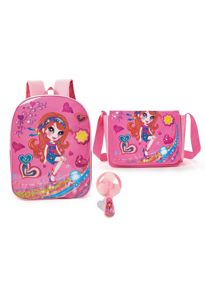 Pink color Bags . Menchie Backpack and Sling Bag -