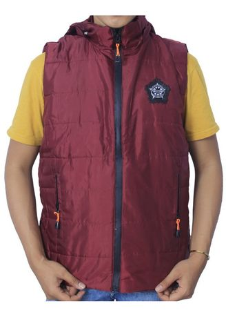 Red color Outerwear . Jaket X Urband Rompi/Vest Unisex A19 -