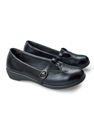 Black color Footwear . Slender Kid's Shoes for Girls -
