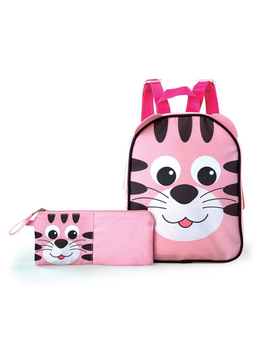 Pink color Bags . Reslyn Girl's Backpack with Pen Case -