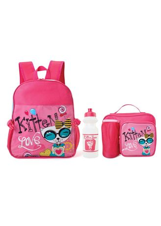 Pink color Bags . Minerva Girl's Bag Set -