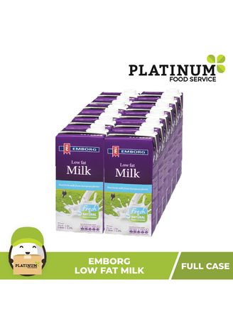 No Color color Milk . Emborg Low Fat Milk, 1L x 12 -