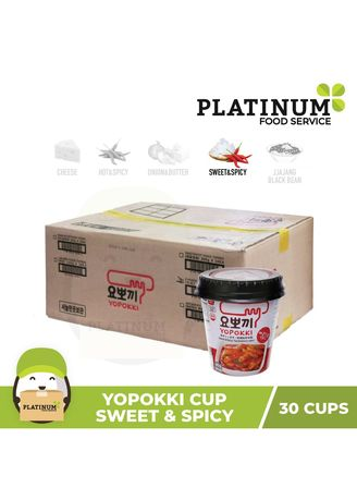 . Yopokki Sweet & Spicy Cup, 140g x 30 -