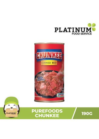 No Color color Canned Food . Purefoods Chunkee Corned Beef, 190g -
