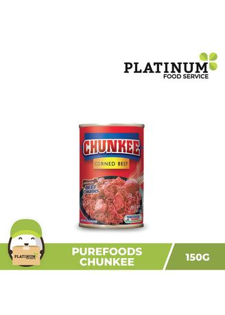 No Color color Canned Food . Purefoods Chunkee Corned Beef, 150g -