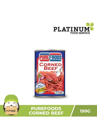 No Color color Canned Food . Purefoods Corned Beef, 150g -