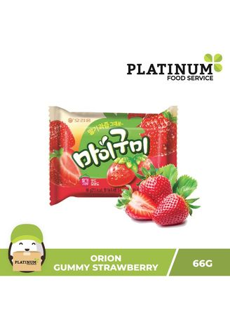 No Color color Chocolates & Candies . Orion Strawberry Gummy Candy, 60g -