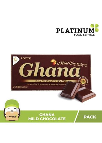 No Color color Chocolates & Candies . Lotte Ghana Mild Chocolate, 68g -