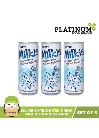 Health Drinks & Supplements . Lotte Milkis Drink, 250mL (Pack of 3) -