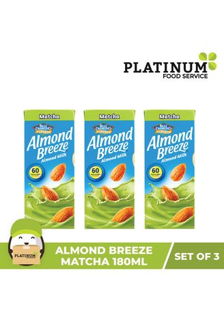 No Color color Health Drinks & Supplements . Almond Breeze Matcha 180mL x 3 -