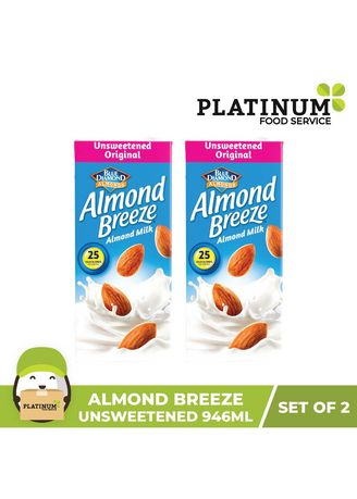 No Color color Health Drinks & Supplements . Almond Breeze Unsweetened 946mL x 2 -