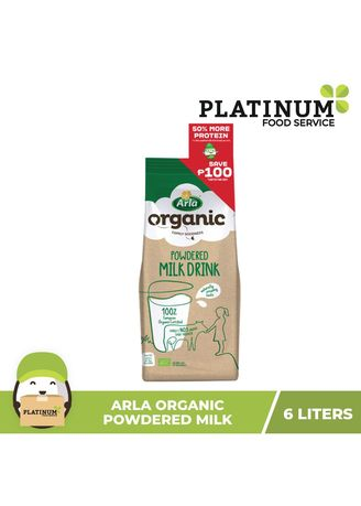 No Color color Milk . Arla Organic Powdered Milk, 6L -