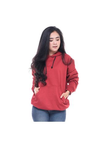 Merah color Jaket & Coat . Sweater Hoodie Original Unisex A58 Merah New -