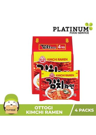 No Color color Snacks . Kimchi Ramen (Pack of 4) -