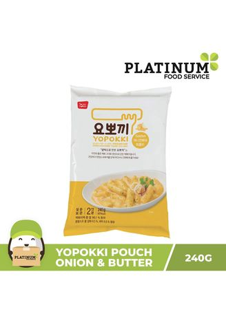 No Color color Snacks . Yopokki Onion & Butter Pouch, 240g -