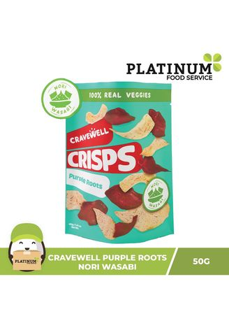 No Color color Snacks . Cravewell Purple Root Crisps - Nori Wasabi, 50g -
