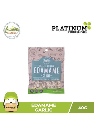 No Color color Snacks . Founding Farmers Roasted Edamame (Garlic), 40g -