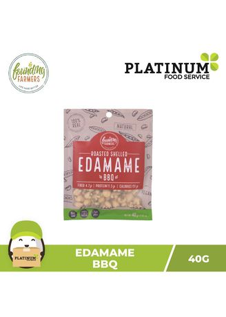 No Color color Snacks . Founding Farmers Roasted Edamame (BBQ), 40g -