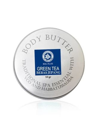 White color Body Bars . BALI ALUS Body Butter 50gr - Green Tea -