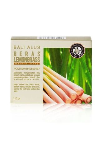White color Body Bars . BALI ALUS Beras Lemongrass Natural Soap 110gr -