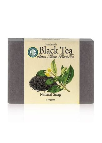 Black color Body Bars . BALI ALUS Sabun Natural SPA 110gr - Black Tea -