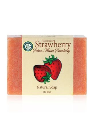 Merah Muda color Sabun Batangan . BALI ALUS Sabun Natural SPA 110gr - Strawberry -