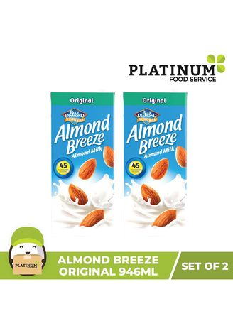 No Color color Milk . Almond Breeze Original, 946mL x 2 -