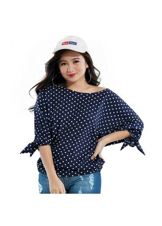 Navy color Tops and Tunics . Marichu Women's Blouse -