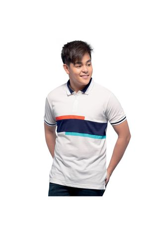 White color T-Shirts and Polos . Whitelaw Men's Polo Shirt -