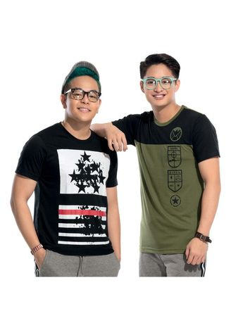 Multi color T-Shirts and Polos . Saber Men's T-Shirt (Set of 2) -