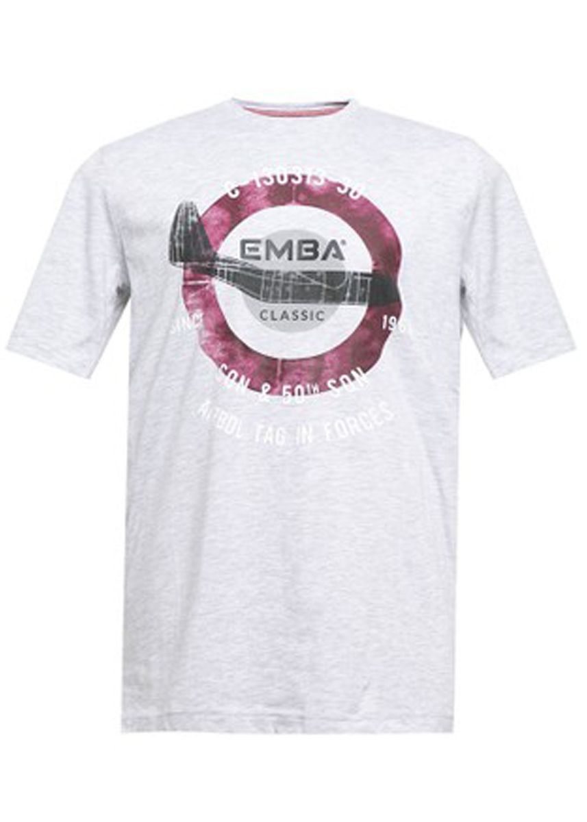 Light Grey color T-Shirts and Polos . EMBA CLASSIC-Airbol T-shirt pria warna Grey -