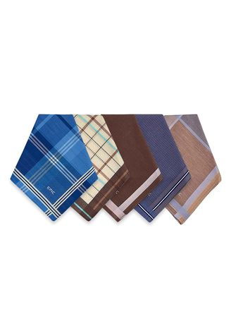 Multi color Handkerchiefs . Sedrick Men's Handkerchiefs (Set of 5) -