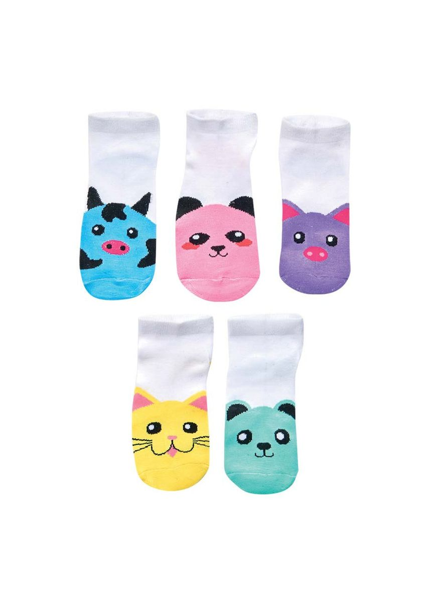 White color Socks . Nancyl Girl's Socks (Set of 5) -