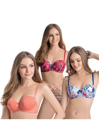 Multi color Bras . Tarazet Women's Bra (Set of 3) -