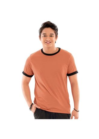 Orange color T-Shirts and Polos . Nikko 2-In-1 Men's Basic Shirt  -