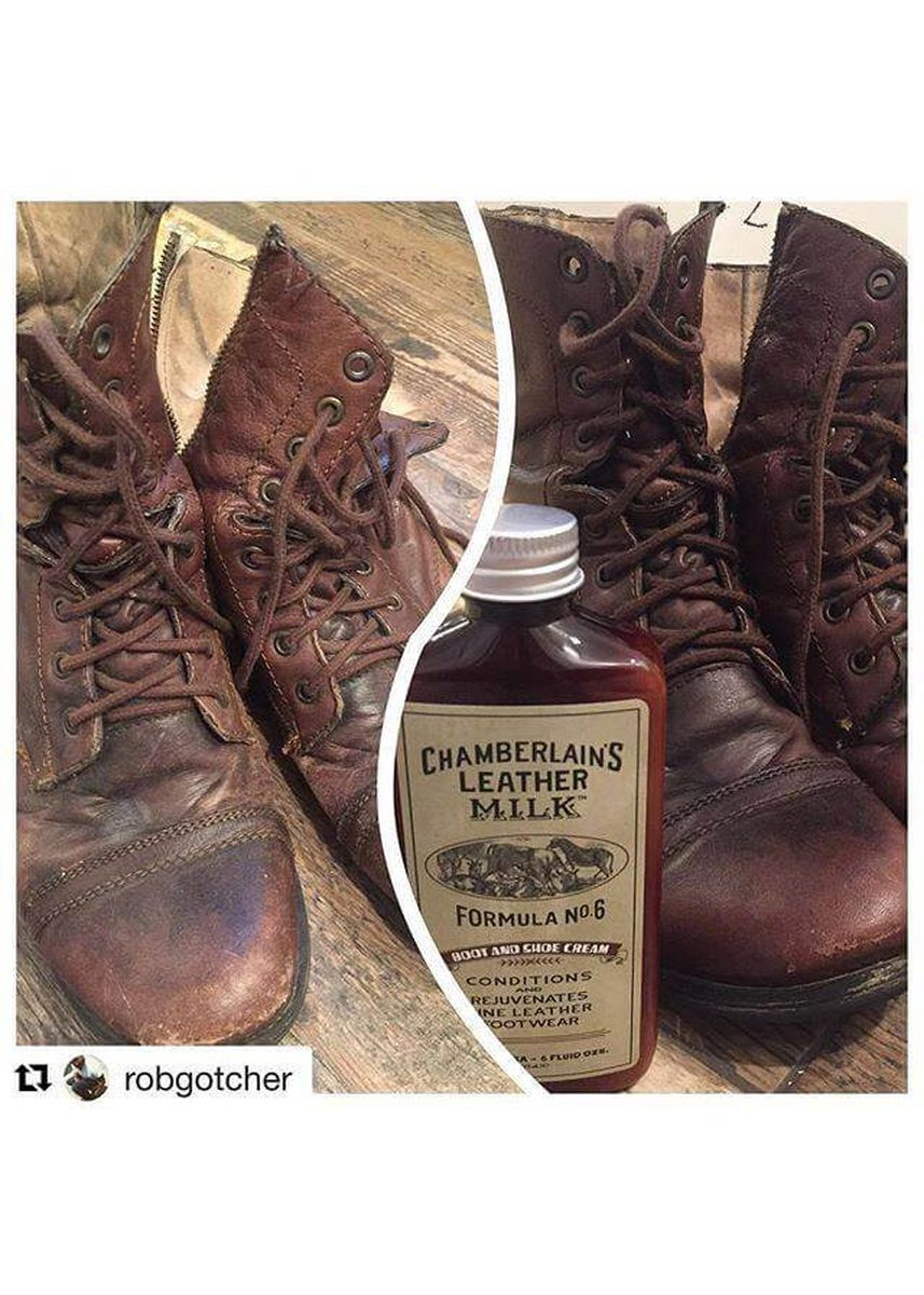 No Color color Polishes & Cleaners . Chamberlains Leather Milk - Shoe Clean & Condition Set: No. 2 & No. 6 -