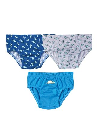Multi color Innerwear . Prius Toddler's Boy's Briefs (Set of 3) -