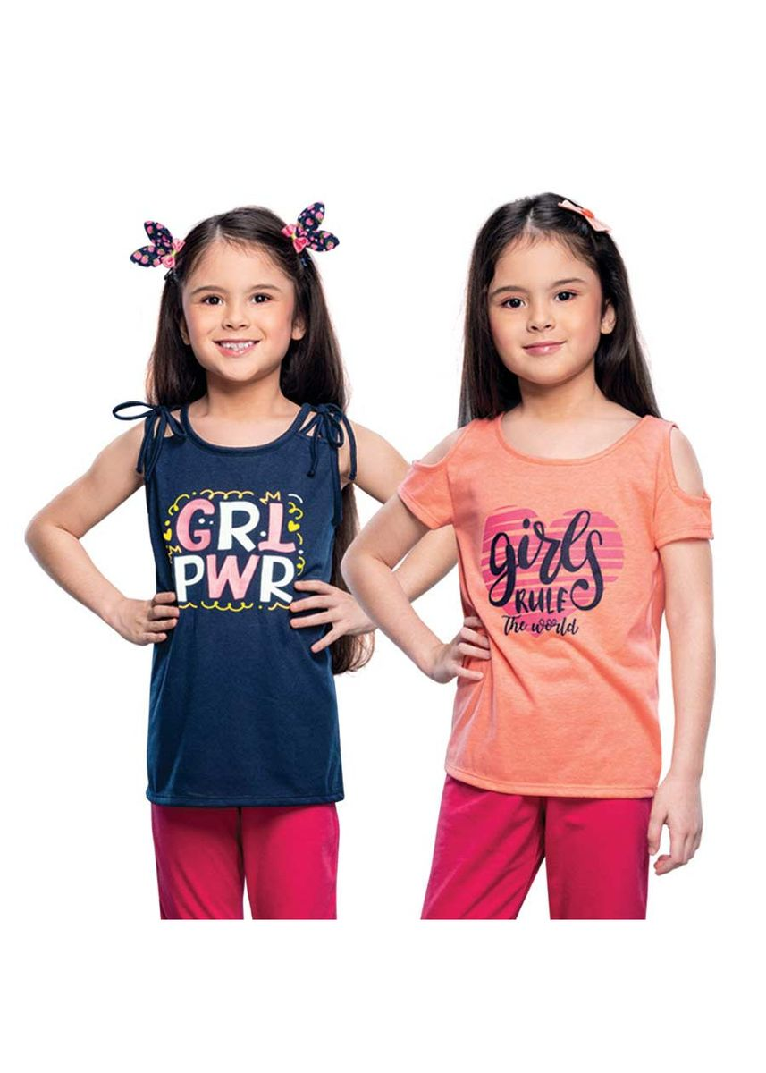 Multi color Tops . Orwina Girl's Blouse (Set of 2) -