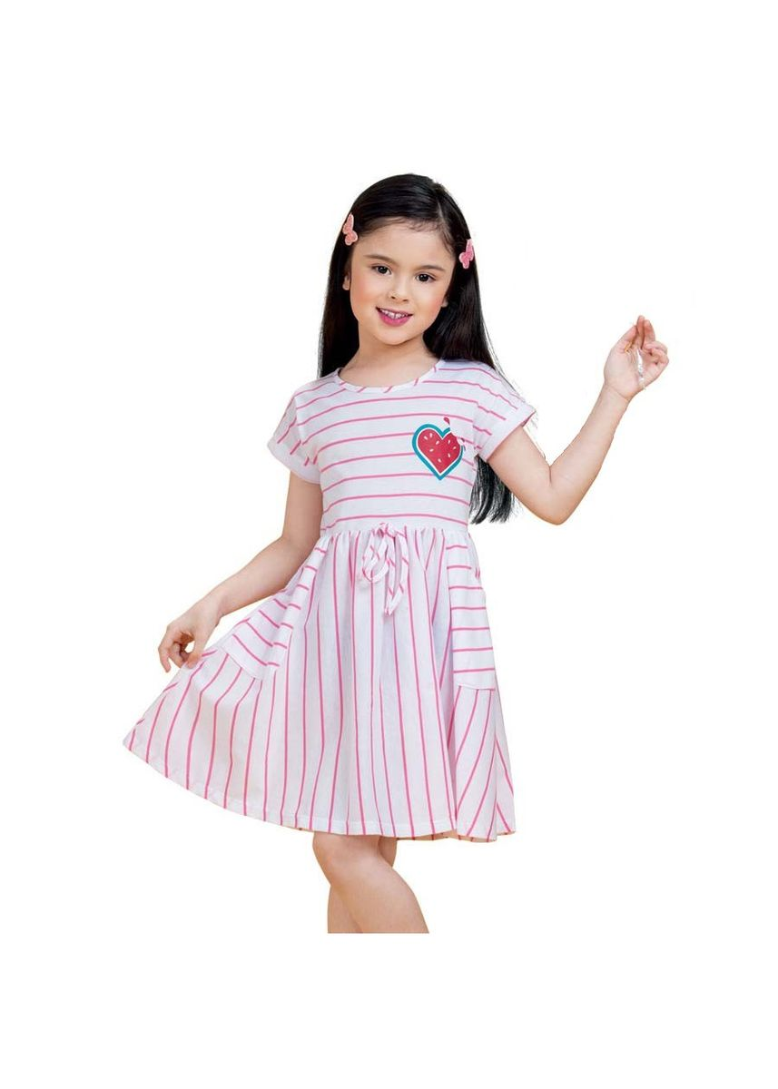 Pink color Dresses . Mardi Girl's Dress -