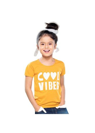 Yellow color Tops . Vibes Girl's Top -