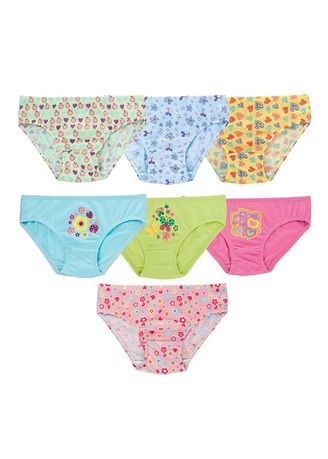 Multi color Innerwear . Marva Girl's Panties (Set of 7) -